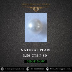 3.56-carat Natural Cultured Pearl-Round Shape