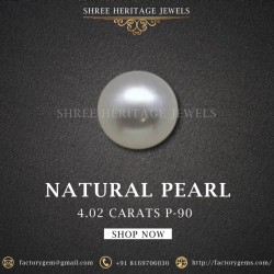 4.02-Carat Beautiful and Natural Creamy White Fresh Water Pearl