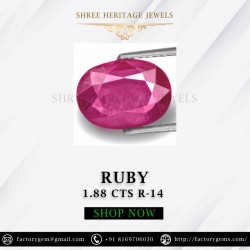 1.88-Carat Natural Oval Cut Pinkish Red Thailand Ruby