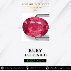 1.95-Carat Natural Oval Cut Pinkish Red Thailand Ruby