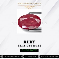 11.18-Carat Beautiful Oval Cut Pinkish Red Thailand Ruby