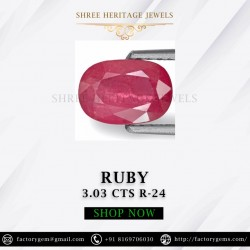 3.03-Carat Beautiful Oval Cut Pinkish Red African Ruby
