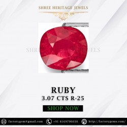 3.07-Carat Beautiful Oval Cut Pinkish Red Thailand Ruby