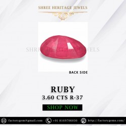3.60-Carat Beautiful Oval Cut Pinkish Red Thailand Ruby