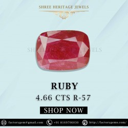 4.66-Carat Beautiful Oval Cut Red African Ruby