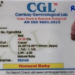 45.28-Carat Beautiful Carving Red African Ruby