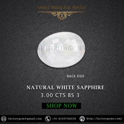 3.00-Carat Natural White Sapphire-Oval