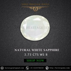3.73-Carat Natural White sapphire-Oval