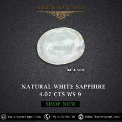 4.07-Carat Beautiful and Dazzling Eye clean White Sapphire