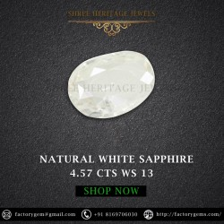 4.57-Carat Natural Oval White Sapphire