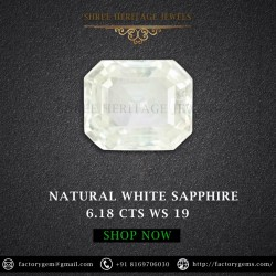 6.18-Carat Beautiful and Dazzling Eye clean White Sapphire