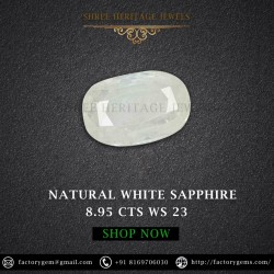 8.95-carat Natural White Sapphire-Oval Mixed Cut