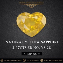 2.67-carat attractive heart-shaped yellow sapphire